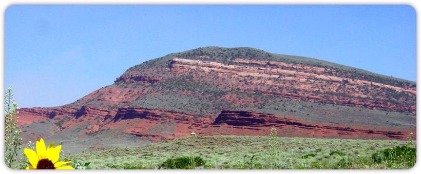 Red Butte in Lander, Home of Molly Rowland