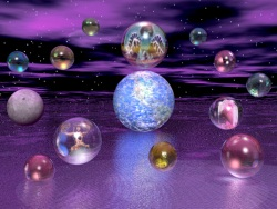 A bunch of crystal balls